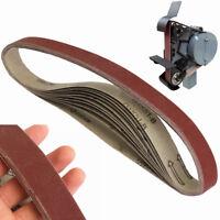 10Pcs Heavy Duty 400# 760X25mm 400 Grit Power Sanding Belt Sander Belts Paper