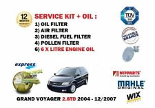FOR CHRYSLER GRAND VOYAGER 2.8 2004-2007 6L OIL + OIL AIR FUEL POLLEN FILTER KIT