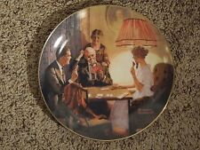 """Vintage Norman Rockwell """"The is the Room That Light Made"""" Decorative Plate 9787E"""