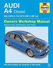 Audi A4 2.0TDi Diesel Mar 2008 - Oct 2015 Haynes Manual 6300 NEW