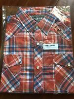 Men's Casual Country Long Sleeve Plaid Shirt New Button Down XL