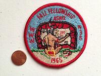 ASHIE OA LODGE 436 SCOUT PATCH SERVICE FALL FELLOWSHIP 1965