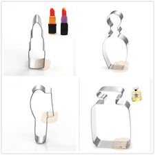 4 Pcs Packed Makeup Perfume Stainless Steel Cookie Dessert Cake Cutter Mould