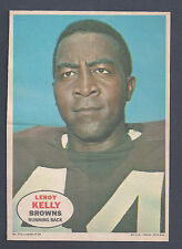 1968 Topps Pin Ups Poster Insert #2 Leroy Kelly Running Back Cleveland Browns