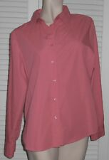 White Stag Ladies Blouse Long Sleeve Cotton Blend Large Dark Pink / Coral
