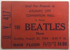 Beatles Original Used Concert Ticket Atlantic City Convention Hall 1964
