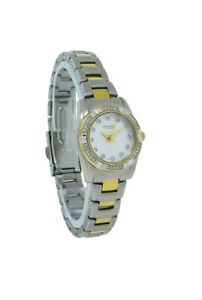 Caravelle by Bulova 45L83 Women's Round Silver & Gold Tone Analog Crystal Watch