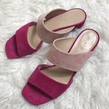 M. Gemi Parola Pink Suede Sandals Size 41 US 10 $198
