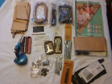 Large lot of Leather working tools and supplies