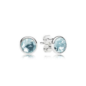 NEW Authentic Month Birthstone Birthday Droplets Stud post earrings NWOT