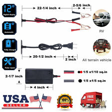 New 12V Portable Auto Car Battery Maintainer Trickle Charger For Boat Motorcycle