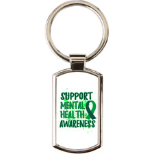 Support Mental Health Awareness Metal Keyring With Black Gift Presentation Box