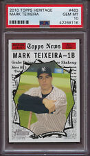 2010 Topps Heritage 463 Mark Teixeira PSA 10 Gem Mint Pop 1