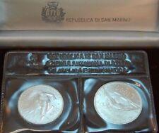 500 e 1000 LIRA 1988 San Marino Olimpiadi in Calgary & Seoul