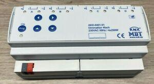 MDT AKD-0401.01 Dimmaktor 4fach 8TE REG 250W 230VAC, KNX