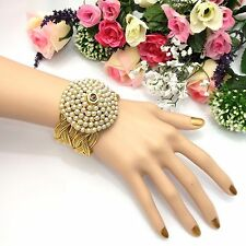 Asian Bridal Polki Cuff Bracelet Bangle Indian Party Wear Bollywood Jewellery