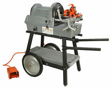 Reconditioned Ridgid 1822 I Auto Chuck Pipe Threader With 815a Hss Dies Amp Cart
