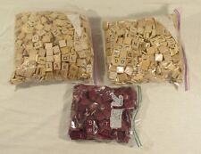 Lot Of 1000+ Scrabble Tiles Original Wood Red