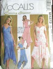 McCalls Sewing Pattern Dress Handkerchief Hem 4-10 Ladies 4373 B&W Env UNCUT