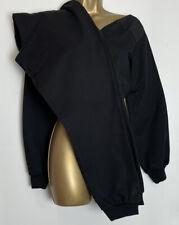 Asos Black Cotton Jersey Cropped Lounge/Jogger Set Size 10   (66)