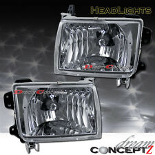EURO CLEAR CHROME STYLE  HEADLIGHTS FOR 1998-2000 FRONTIER PICKUP TRUCK PAIR