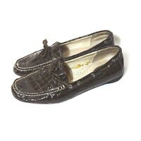 Sperry Top-Sider Leather Slip-on Loafers Boat Shoes Women Size 7.5 M Brown