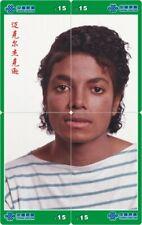 Michael Jackson 4 telefoonkaarten/télécartes  (MJ56-77 4p)