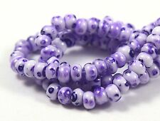 "Czech Glass Seed Beads Size 6/0 Terra Marble Looked "" SPECKLE  LILAC "" Strands"