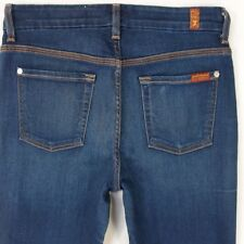 Ladies Seven 7 for All Mankind HIGH WAIST STRAIGHT Stretch Blue Jeans W29 L28