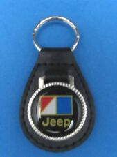 AMC JEEP AUTO LEATHER KEYCHAIN KEY CHAIN RING FOB #002