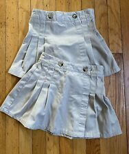 French Toast girls uniform skirt size 6 skort khaki school tan - lot of two (2)