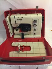 BERNINA 830 Record Sewing Machine, Red Travel Case, Extension Table,Cord & Pedal