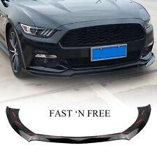 Front Bumper Chin Lip Body Kit Spoiler Splitter For Ford Mustang GT 2015-2017 AM