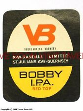 1960s England Randall's VB Bobby India Pale Ale Beer label Tavern Trove