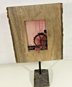 Natural Wood Photo Frame Tree Bark Edge w/stand Photo 14.5x9 cm / 6x3.5 Inches