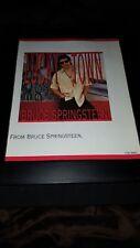 Bruce Springsteen Lucky Town Rare Original Promo Poster Ad Framed!
