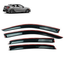 Wind Deflector Weather Visor Door Guard Black Fit Honda Civic FC Hatchback 2017