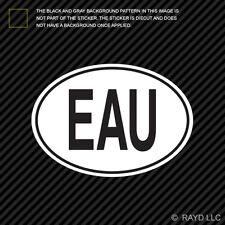 EAU Uganda Country Code Oval Sticker Decal Self Adhesive Ugandan euro