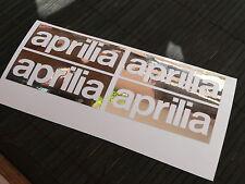 OFFERTA kit 4 adesivi Aprilia moto decal sticker rsv rs 125 250 sxv rs4 v4 2t 4t