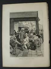 1877:VENEZIA,Coffee-House on RIVA DEGLI SCHIAVONI.Kaden