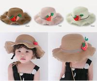 Summer Girls Kids Baby Children Cap Strawberry and Carrots Decor Straw hat