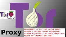 Raspberry PI 1 - 2 - 3 Tor Onion Proxy MicroSD SD Image Disc