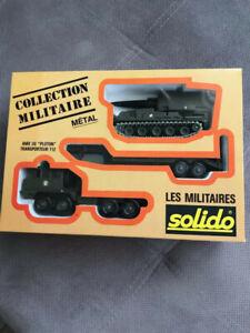 """COFFRET """"COLLECTION MILITAIRE"""" SOLIDO METAL AMX 30 """"PLUTON"""" TRES RARE 1/43ème"""