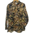 Mossy Oak Apparel Flannel Shirt Tree Camouflaged Green Brown Hunting Long Sleeve