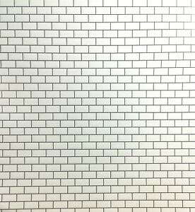 Dollhouse Miniature Subway Metro Wall Tile White Embossed Glossy Paper 1:12