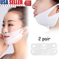 2PCS Miracle V-Shaped Slimming Mask Face Care Slimming Mask Small face artifact