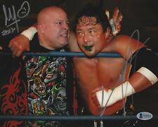 Yoshihiro Tajiri & Mikey Whipwreck Signed 8x10 Photo BAS COA WWE ECW Autograph 2