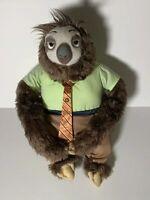 "Disney Store Zootopia Flash Sloth Plush 15"" Stuffed Animal Toy Hugging"