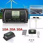 10/20/30A 12V/24V PWM LCD Display Solar Battery Regulator Charger Controller USB