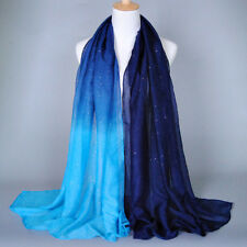 Women Candy Color Long Pashmina Scarf Shawl Neck Wrap Soft Stole Voile Scarves